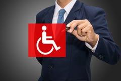 Icona di handicap immagini stock