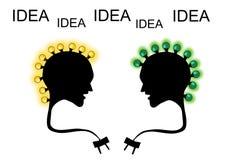 Icona di idea della lampadina Immagini Stock Libere da Diritti