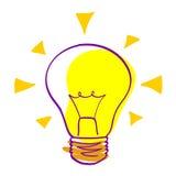 Icona di idea - lampadina vectorial Immagini Stock