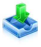 Icona di Inbox Fotografia Stock