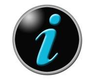 Icona di informazioni Fotografia Stock