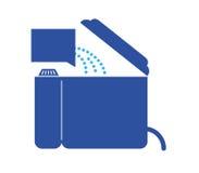 Icona di istruzione per la lavanderia Fotografie Stock