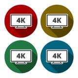 icona di 4k TV royalty illustrazione gratis