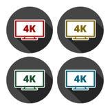 icona di 4k TV illustrazione di stock