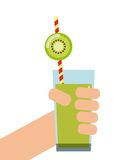 Icona di Kiwi Detox Progettazione del succo e del frullato Grafico di vettore royalty illustrazione gratis