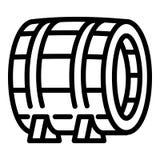 Icona di legno del barilotto, stile del profilo royalty illustrazione gratis