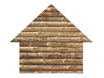 Icona di legno della casa Immagini Stock