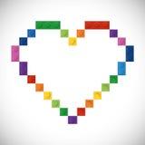 Icona di Lego Figura astratta del cuore Grafico di vettore royalty illustrazione gratis