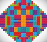 Icona di Lego Figura astratta Grafico di vettore royalty illustrazione gratis