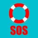 Icona di Lifebuoy Illustrazione di vettore aiuto più sicuro Immagini Stock Libere da Diritti
