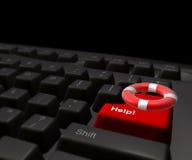 Icona di Lifebuoy sulla tastiera del Internet Immagine Stock Libera da Diritti