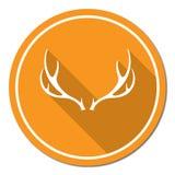 Icona di logo del club di caccia Immagini Stock