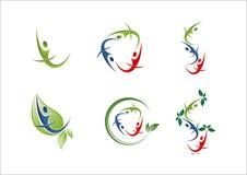 Icona di logo del partner del gruppo del gruppo della gente Fotografia Stock