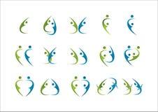 Icona di logo del partner della gente del gruppo del gruppo sociale della famiglia Fotografia Stock