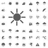 Icona di lustro di Sun Icone di vettore del tempo messe Immagini Stock