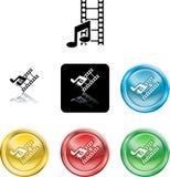 Icona di media di musica e di film Immagine Stock Libera da Diritti
