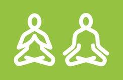 Icona di meditazione di yoga illustrazione vettoriale