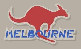 Icona di Melbourne Immagine Stock