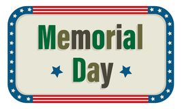 Icona di Memorial Day Immagini Stock