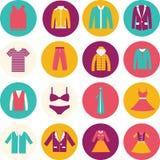 Icona di modo dell'abbigliamento del grande magazzino. Fotografia Stock Libera da Diritti