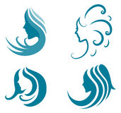 Icona di modo. simbolo di bellezza femminile Immagine Stock Libera da Diritti