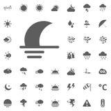 Icona di Moonset Icone dell'illustrazione di vettore del tempo messe Fotografie Stock