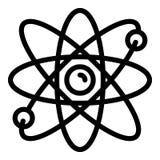 Icona di moto dell'elettrone, stile del profilo illustrazione vettoriale