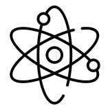 Icona di moto dell'elettrone, stile del profilo illustrazione di stock