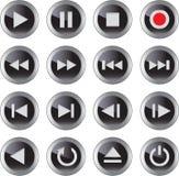 Icona di multimedia/insieme del tasto Fotografia Stock