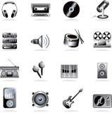 Icona di musica Fotografia Stock Libera da Diritti