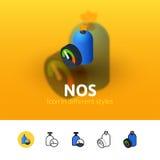 Icona di no. nello stile differente Fotografia Stock Libera da Diritti