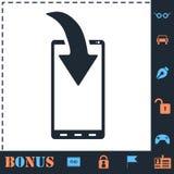 Icona di notifica di download del telefono pianamente royalty illustrazione gratis
