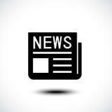 Icona di notizie Fotografia Stock