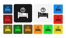 Icona di ora di andare a letto, segno, illustrazione Fotografia Stock
