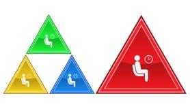 Icona di orario di lavoro, segno, illustrazione Fotografia Stock Libera da Diritti