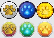 Icona di orma del gatto Immagine Stock