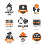 Icona di pallacanestro messa - 3 Fotografie Stock