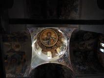 Icona di Pantokrator - monastero di Kesariani Fotografia Stock Libera da Diritti