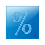 Icona di percentuale Fotografie Stock Libere da Diritti