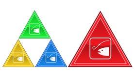 Icona di pesca, segno, illustrazione Fotografia Stock