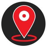 Icona di posizione su fondo bianco Stile piano icona per la vostra progettazione del sito Web, logo, app, UI di posizione simbolo illustrazione vettoriale