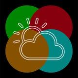 Icona di previsioni del tempo, nuvole di stagioni di vettore illustrazione di stock