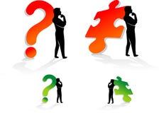 Icona di puzzle e di domanda Immagine Stock Libera da Diritti