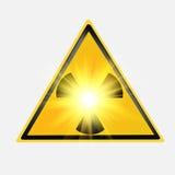 Icona di radiazione. Fotografia Stock Libera da Diritti