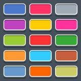Icona di rettangolo arrotondata bottone in bianco piano di web immagine stock libera da diritti