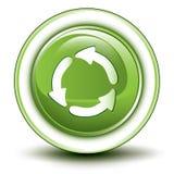 Icona di riciclaggio ambientale Immagine Stock