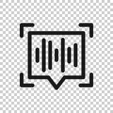 Icona di riconoscimento della voce nello stile trasparente Illustrazione sana di vettore di autenticazione su fondo isolato Affar illustrazione vettoriale