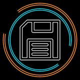 Icona di risparmio - simbolo del computer - stoccaggio di memoria illustrazione di stock