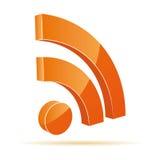 Icona di RSS Fotografia Stock Libera da Diritti