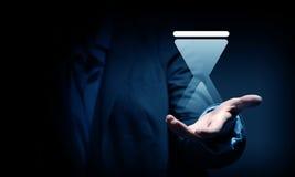 Icona di Sandglass in palme Fotografia Stock Libera da Diritti